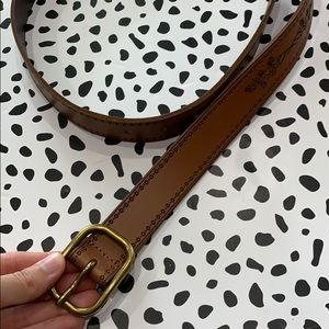 Embroidered Brown Belt
